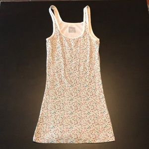 Floral Mossimo Long & Lean Ribbed Tank Top, Medium